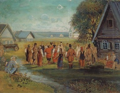 round dance in the village 1874