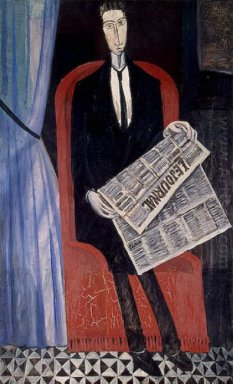portrait of a man with a newspaper