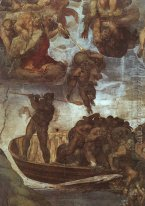 Last Judgement, detail of the Boatman Charon 1536-41
