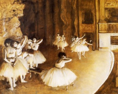 the ballet rehearsal on stage 1874