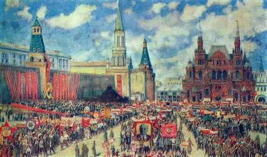 The 1St May Demonstration On The Red Square At 1929 1930