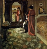Interior Bedroom With Two Figures 1904