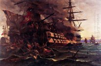 The attack on the Turkish flagship in the Gulf of Eressos at the