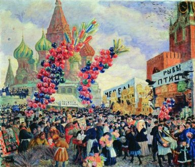 Palm Sunday Near The Spassky Gate On The Red Square In Moscow 19