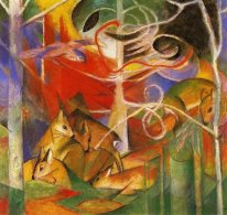 Deer In The Forest 1913