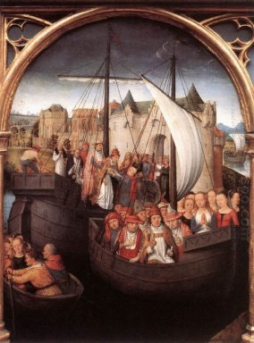 The Departure Of Saint Ursula From Basle Panel From The Reliquar
