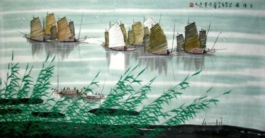 River, Boat - Chinese Painting
