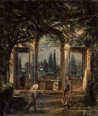 The Gardens Of The Villa Medici In Rome 1630