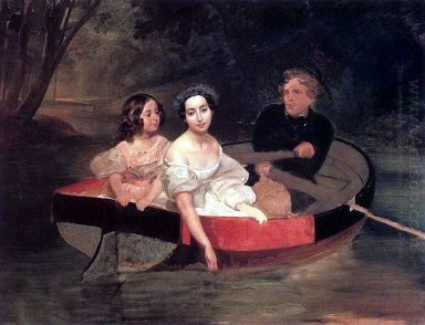 Self Portrait With Baroness Ye N Meller Zakomelskaya And A Girl
