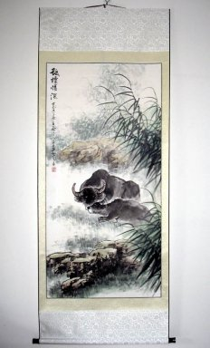Cow - Mounted - Chinese Painting