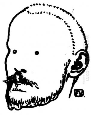 Portrait Of French Writer Jules Renard 1898