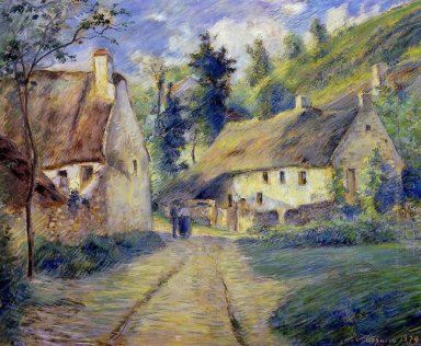 cottages at auvers near pontoise 1879