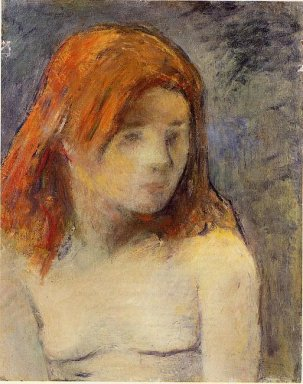 bust of a nude girl 1884