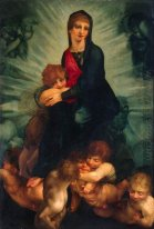 Madonna en Kind met Putti