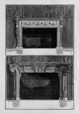 Two Fireplaces Superimposed With The Support 4 In The Chariot Ra