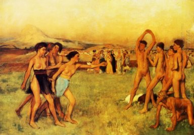 spartan girls challenging boys 1860