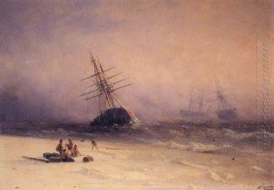The Shipwreck On Northern Sea 1875