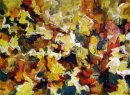 Abstract Expressionist Autumn Sky