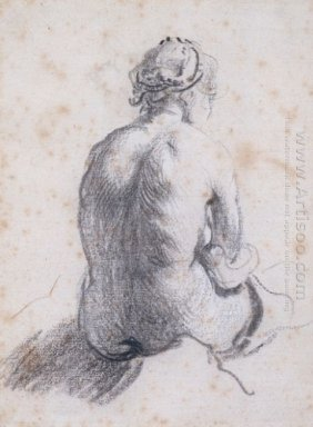 A Study Of A Female Nude Seen From The Back 1634