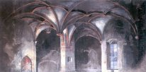 crypt of the borotin castle set design for grillparzer s drama d