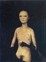 Nude Girl with Gloves