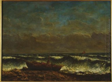 Stormy Sea The Wave 1870