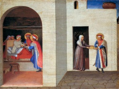 The Healing Of Palladia By Saint Cosmas And Saint Damian 1440