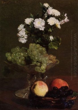 Still Life Chrysanthemums And Grapes 1872