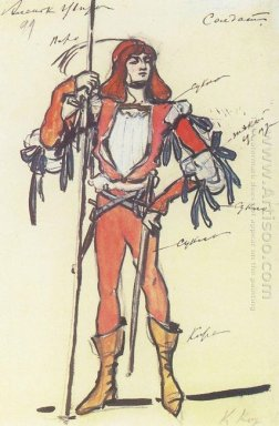 Soldier Costume Design For Gartman S Ballet 1908