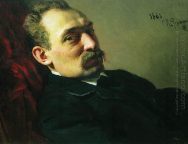 Portrait Of The Architect Philip Dmitrievich Hloboschin 1868