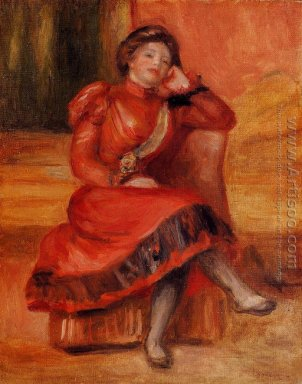 Spanish Dancer In A Red Dress