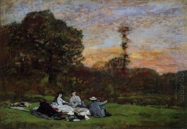 The Manet Family Picnicking 1866