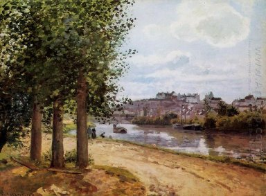 pontoise banks of the oise 1872