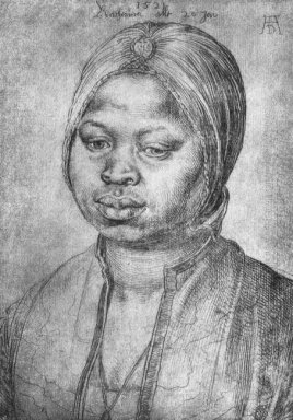 portrait of african woman catherine