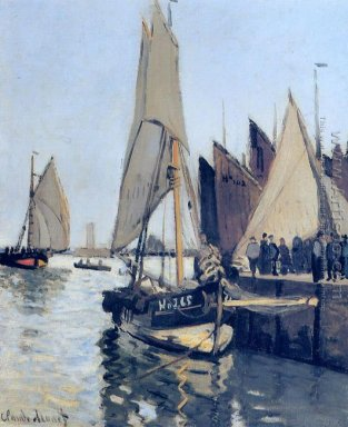 Sailing Boats At Honfleur