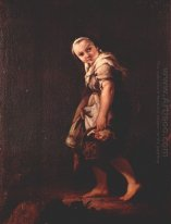 A Shepherd Girl With A Basket