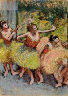 dancers in green and yellow