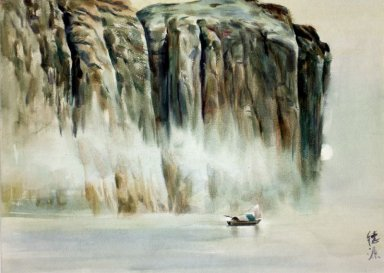 Mountains, water, watercolor - Chinese Painting