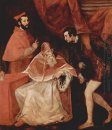 Portrait of Farnese Pope Paul III with his Nephews