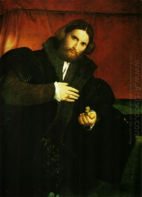 Portrait Of A Gentleman With Lion Paw