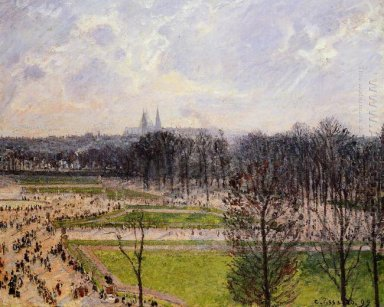 the tuileries gardens winter afternoon 1899