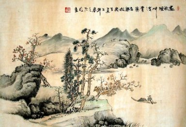 Pines and plum-meihua - Chinese Painting