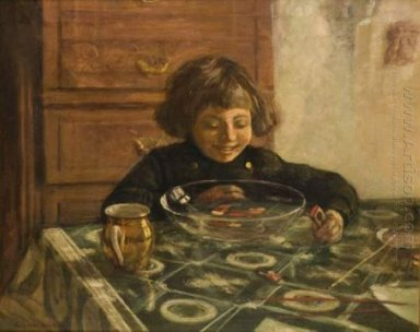 Child Sitting A Table