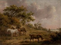 Landscape with Four Horses