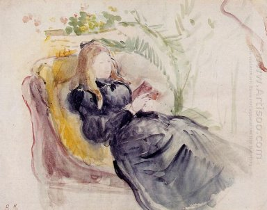 Julie Manet Reading In A Chaise Lounge