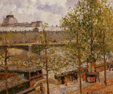 the louvre morning sun quai malaquais 1903