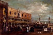 Venice, a View of the Piazzetta Looking South with the Palazzo D