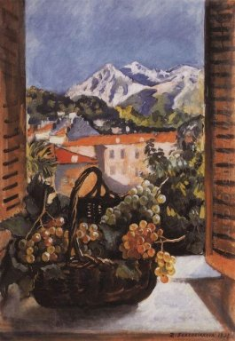 Basket With Grapes On The Window 1931