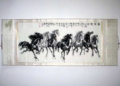 Horse-Success-Mounted - Chinese Painting