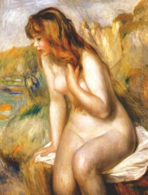 Bather Seated On A Rock 1892